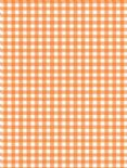 5 x A4 Orange Gingham Card Stock, Size:- Large - GING23
